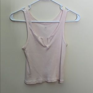 🛍 3/$25  Pastel Pink V-Neck Tank Top